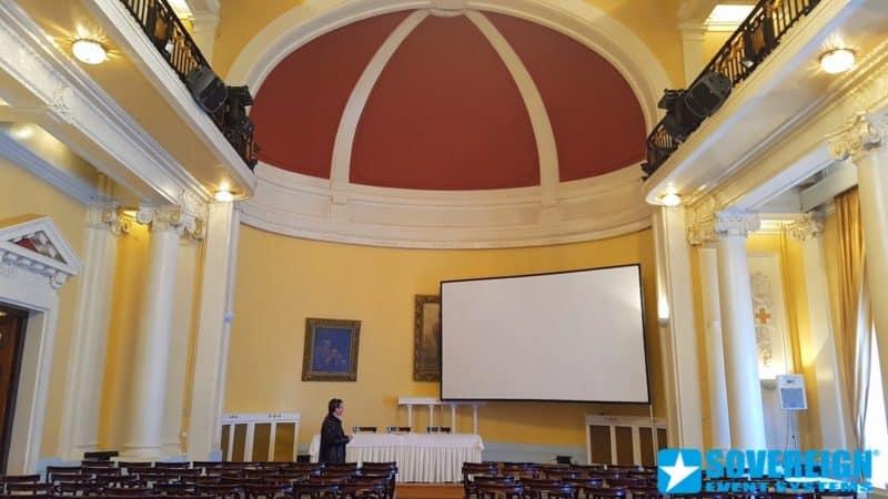 Ενοικίαση πανιού projector 4.6 x 2.7m Front